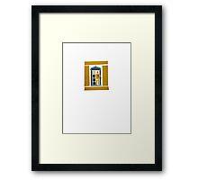 Saul Bass Tardis Framed Print