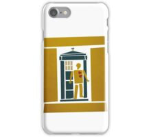 Saul Bass Tardis iPhone Case/Skin