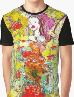 The Colourful Garden and Fairy  Graphic T-Shirt