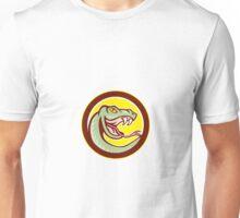 Rattle Snake Head Circle Cartoon Unisex T-Shirt