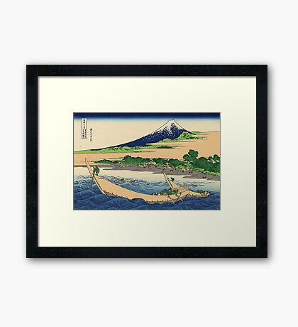 Hokusai Katsushika - Shore of Tago Bay, Ejiri at Tokaido Framed Print