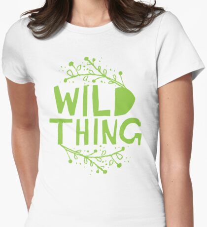 wild thing Womens Fitted T-Shirt