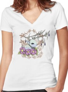 Dreamcatcher Fawn Women's Fitted V-Neck T-Shirt