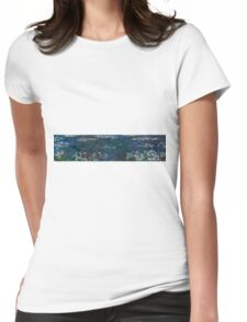 Claude Monet - The Water Lilies - Green Reflections (1915 - 1926)  Womens Fitted T-Shirt