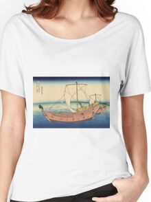 Hokusai Katsushika - The Kazusa Province sea route Women's Relaxed Fit T-Shirt