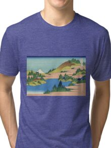 Hokusai Katsushika - The lake of Hakone in Sagami Province Tri-blend T-Shirt