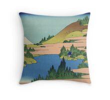 Hokusai Katsushika - The lake of Hakone in Sagami Province Throw Pillow