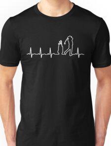 Golf Heartbeat Unisex T-Shirt