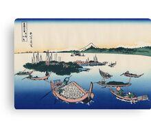 Hokusai Katsushika - Tsukuda Island in Musashi Province Canvas Print