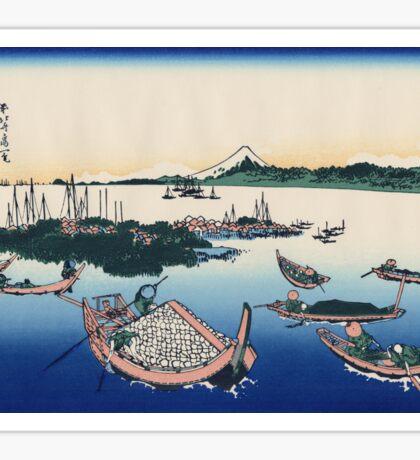 Hokusai Katsushika - Tsukuda Island in Musashi Province Sticker