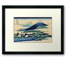 Hokusai Katsushika - Umezawa in Sagami Province Framed Print