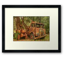 Rusty Trusty & the Bulldozer Framed Print