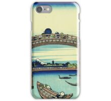 Hokusai Katsushika - Under Mannen Bridge at Fukagawa iPhone Case/Skin