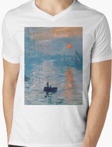 Claude Monet - Impression Sunrise 1872 Mens V-Neck T-Shirt