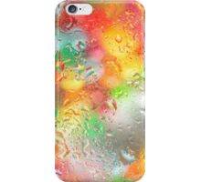 Water droplets on glass iPhone Case/Skin