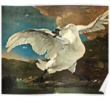 Jan Asselijn - The Threatened Swan (1640 - 1652)  Poster