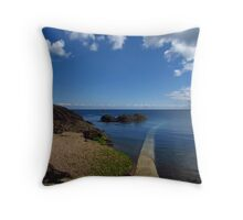 Crystal Clear Sea, Gorey, Jersey Throw Pillow
