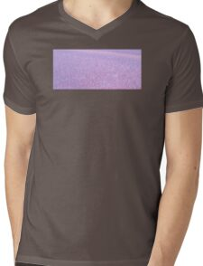 LILAC FROST ICE CRYSTALS TEXTURE Mens V-Neck T-Shirt