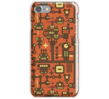 Robots red iPhone Case/Skin