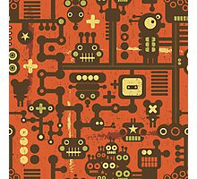 Robots red Photographic Print