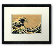 Katsushika Hokusai - The Great Wave Off the Coast of Kanagawa 19th century Framed Print