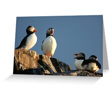 The Gossips! Greeting Card