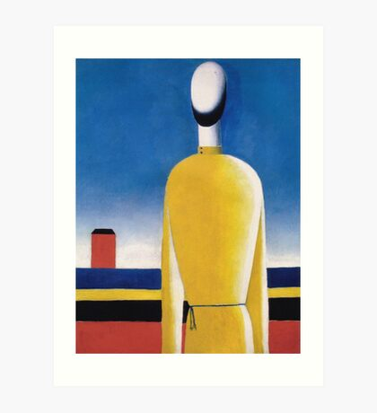 Kazemir Malevich - Half-Figure In Yellow Shirt Art Print