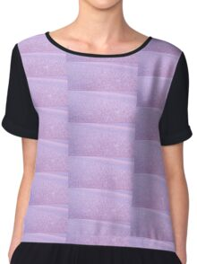 LILAC FROST ICE CRYSTALS TEXTURE Chiffon Top