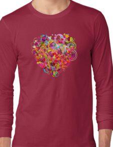 Heart colorful Long Sleeve T-Shirt