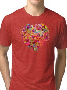 Heart colorful Tri-blend T-Shirt
