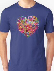 Heart colorful Unisex T-Shirt