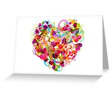 Heart colorful Greeting Card