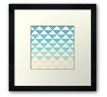 Gradient Triangle Pattern Framed Print