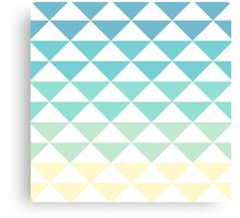 Gradient Triangle Pattern Canvas Print