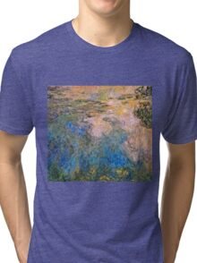Claude Monet - The Water lily Pond (1914 1917)  Tri-blend T-Shirt