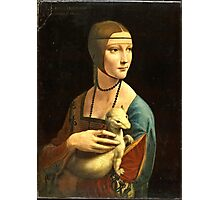Leonardo Da Vinci - The Lady With An Ermine 1490  Photographic Print