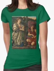 Edward Burne Jones - The Love Song 1877  Womens Fitted T-Shirt
