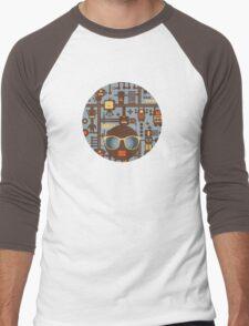 Robots blue Men's Baseball ¾ T-Shirt