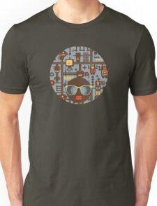 Robots blue Unisex T-Shirt