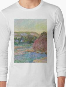 Claude Monet - Stacks of Wheat (End of Summer) (1890 91)  Long Sleeve T-Shirt