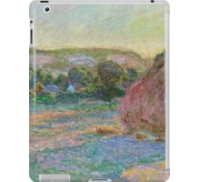 Claude Monet - Stacks of Wheat (End of Summer) (1890 91)  iPad Case/Skin
