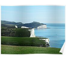 Seven Sisters Cliffs, East Sussex Poster