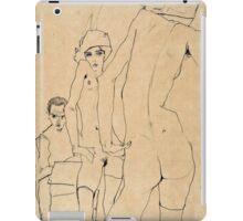 Egon Schiele - Schiele with Nude Model before the Mirror, 1910  iPad Case/Skin