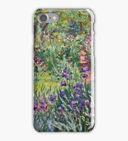 Claude Monet - The Artist s Garden In Giverny 1900  iPhone Case/Skin