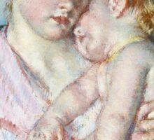 Mary Cassatt - Sleepy Baby ( 1910)  Sticker
