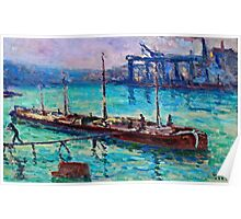 Maximilien Luce - Peniche Near The Bank Of The Seine 1910  Poster