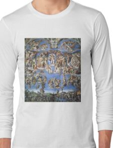 Michelangelo - Last Judgement Long Sleeve T-Shirt