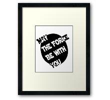 Yoda Quote Print  Framed Print