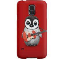 Baby Penguin Playing Canadian Flag Guitar Red Samsung Galaxy Case/Skin