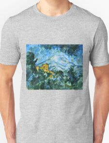 Paul Cezanne - Mont Sainte Victoire and Chateau Noir (1904 - 1906)  Unisex T-Shirt